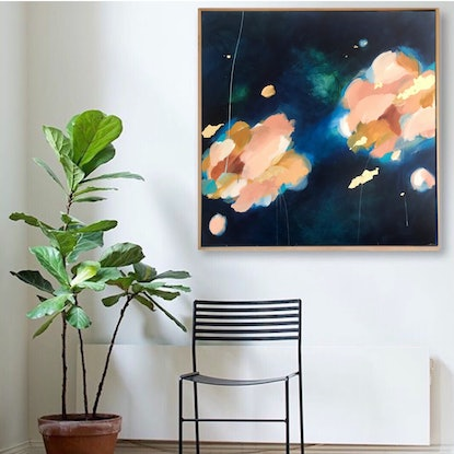 (CreativeWork) Neon Moss by Marnie McKnight. Acrylic Paint. Shop online at Bluethumb.