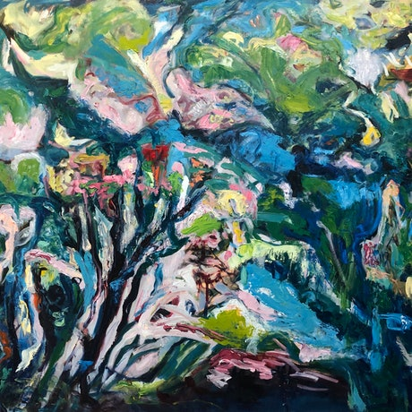 (CreativeWork) ABSTRACT SEAWEED 3 by Maureen Finck. Oil Paint. Shop online at Bluethumb.