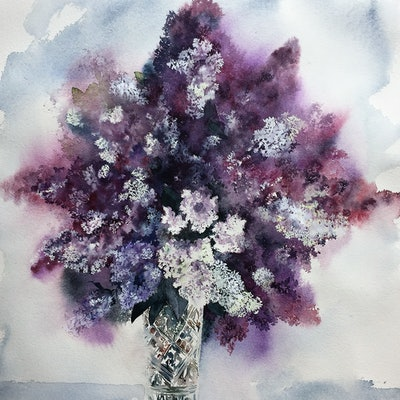 (CreativeWork) Singing in the light by Fereshteh PK. watercolour. Shop online at Bluethumb.