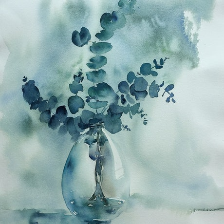 (CreativeWork) A moment of tranquillity  by Fereshteh Pourkazemi. Watercolour Paint. Shop online at Bluethumb.