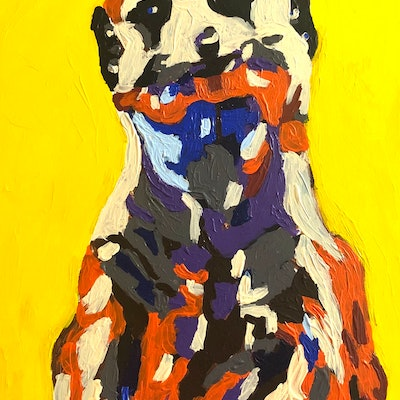 (CreativeWork) Meerkat by Timothy De Guzman. acrylic-painting. Shop online at Bluethumb.