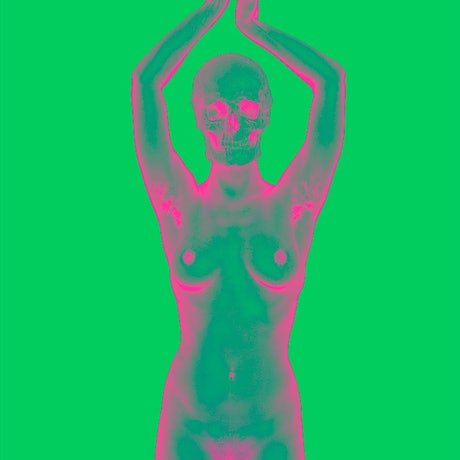 (CreativeWork) Naked Skull of Gestalta in Green #2 Ed. 1 of 25 by Adrian Murphy. Photograph. Shop online at Bluethumb.