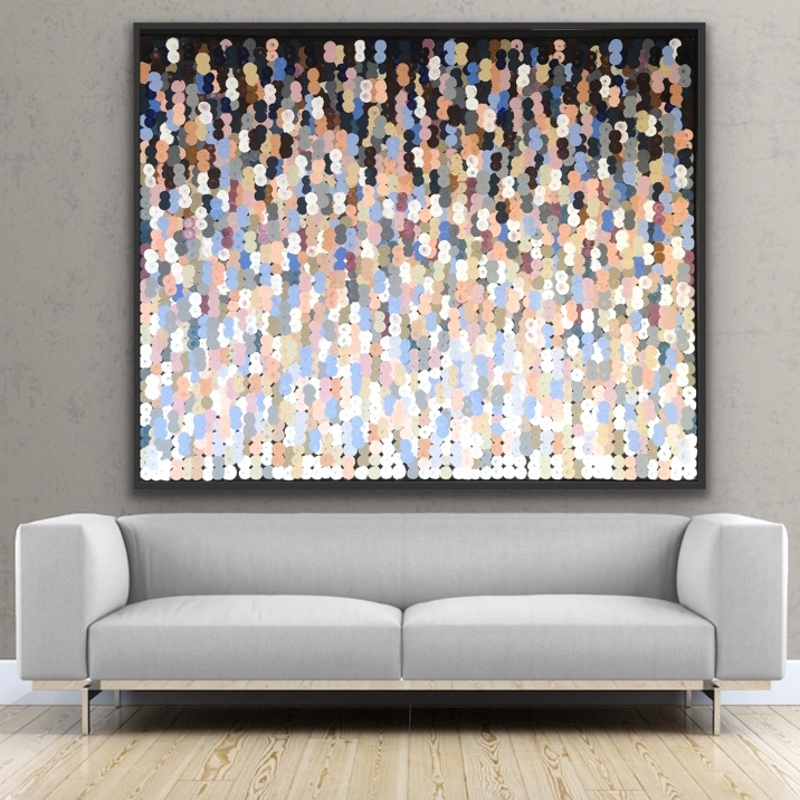 (CreativeWork) Ristretto 152x122 framed large abstract by Sophie Lawrence. Acrylic Paint. Shop online at Bluethumb.