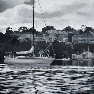 (CreativeWork) Sailing through Hunters Hill by Michelle Angelique. #<Filter:0x0000561ac8bffdb8>. Shop online at Bluethumb.