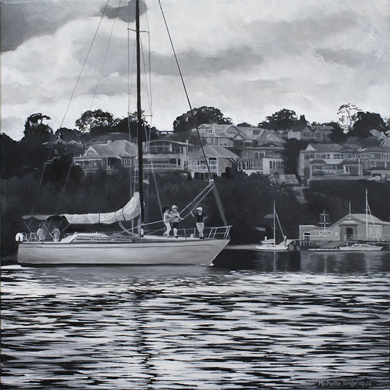 (CreativeWork) Sailing through Hunters Hill by Michelle Angelique. #<Filter:0x000055c71f25a508>. Shop online at Bluethumb.