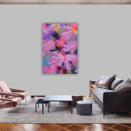 (CreativeWork) Cascade abstract 2 (dyptich 50x 80 cm) by Kaleidoscope designs studio. Mixed Media. Shop online at Bluethumb.