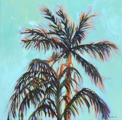 (CreativeWork) Summertime by Kate Gradwell. Acrylic Paint. Shop online at Bluethumb.