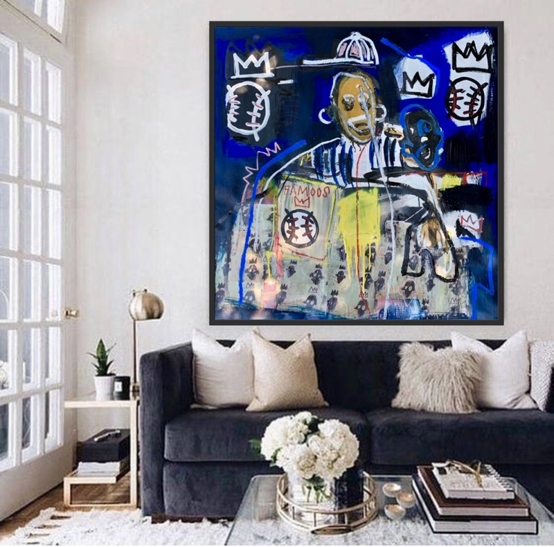 (CreativeWork) FAMOOS by Shane Bowden. Acrylic Paint. Shop online at Bluethumb.