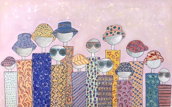 (CreativeWork) We are the same but different - Summer - CZ19048 by Carol Zsolt. Acrylic. Shop online at Bluethumb.