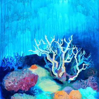 (CreativeWork) Staghorn Coral  by Lydie Paton. #<Filter:0x00007fa57c999908>. Shop online at Bluethumb.