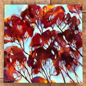 (CreativeWork) Blaze by Kate Gradwell. acrylic-painting. Shop online at Bluethumb.