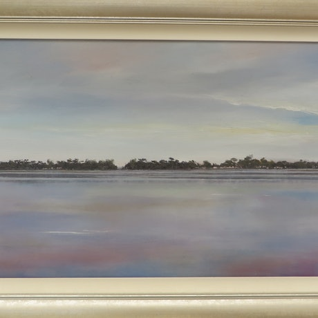 (CreativeWork) The Serenity by Jennifer Viney. Oil Paint. Shop online at Bluethumb.