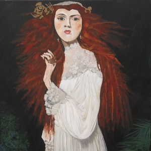 (CreativeWork) Renaissance Ranga by Lesley Taylor. Acrylic Paint. Shop online at Bluethumb.