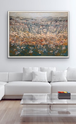 (CreativeWork) Connection by Jeana Castelli. Acrylic Paint. Shop online at Bluethumb.