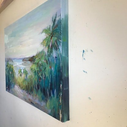 (CreativeWork) Hamilton Island by Liliana Gigovic. Oil Paint. Shop online at Bluethumb.