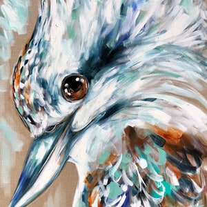 (CreativeWork) Rainmaker kookaburra  by Amanda Brooks. #<Filter:0x00007f1f9758d280>. Shop online at Bluethumb.