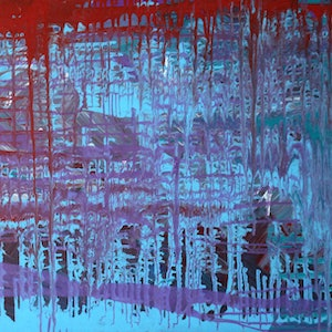 (CreativeWork) Complexity in the Raw - Abstract Exploration by Julie Hollis. acrylic-painting. Shop online at Bluethumb.