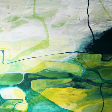 (CreativeWork) Landscape Dreaming by Anna Webster. Acrylic Paint. Shop online at Bluethumb.