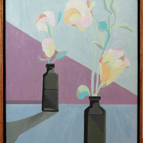 (CreativeWork) Still Life I by Anna Webster. Oil Paint. Shop online at Bluethumb.
