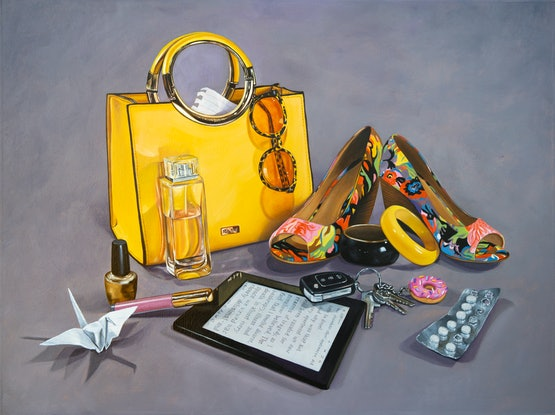 (CreativeWork) Arsenal for Today (gold) by Melissa Ritchie. Oil Paint. Shop online at Bluethumb.