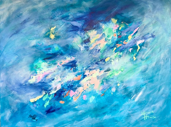 (CreativeWork) Green Opalescent by Meredith Howse. Acrylic. Shop online at Bluethumb.