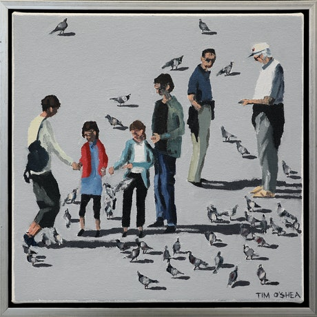 (CreativeWork) Populace by Tim O'Shea. Oil Paint. Shop online at Bluethumb.