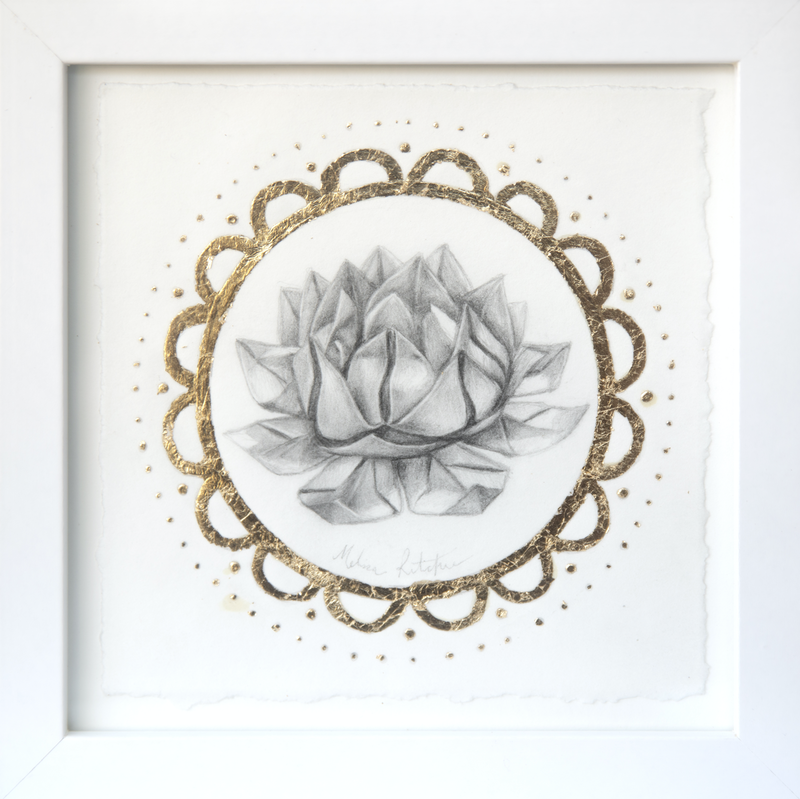 (CreativeWork) Paper Lotus by Melissa Ritchie. Drawings. Shop online at Bluethumb.