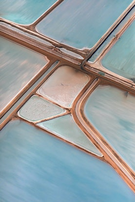 (CreativeWork) Abstract Aerial of Salt Farm Ed. 2 of 10 by Craig Hammersley. Photograph. Shop online at Bluethumb.