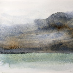 (CreativeWork) 'Don't Look Back' watercolour Seascape   by Michelle Keighley. watercolour. Shop online at Bluethumb.