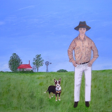 "(CreativeWork) ""Country Boys"" by Fran Caldwell. Acrylic Paint. Shop online at Bluethumb."