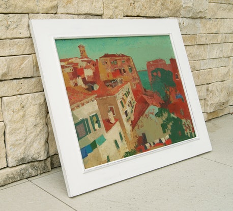 (CreativeWork) Venice Rooftops by Tetyana Khytko. Acrylic Paint. Shop online at Bluethumb.