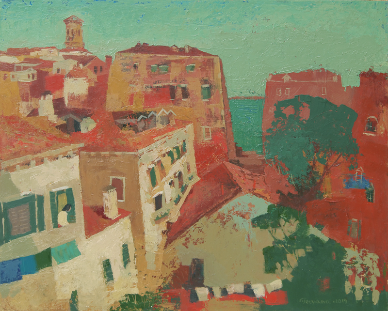 (CreativeWork) Venice Rooftops by Tetyana Khytko. #<Filter:0x00007f3c36324c08>. Shop online at Bluethumb.