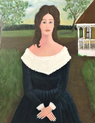 """(CreativeWork) """"Marion"""" by Fran Caldwell. Acrylic Paint. Shop online at Bluethumb."""
