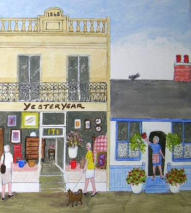 """(CreativeWork) """"Yesteryear"""" by Fran Caldwell. Acrylic Paint. Shop online at Bluethumb."""