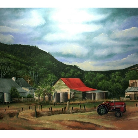 (CreativeWork) Collits Inn by James Preece. Acrylic Paint. Shop online at Bluethumb.