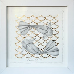 (CreativeWork) Paper Goldfish by Melissa Ritchie. #<Filter:0x00007f9c4a550288>. Shop online at Bluethumb.