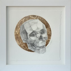 (CreativeWork) Paper Skull by Melissa Ritchie. #<Filter:0x00007f9c4a532350>. Shop online at Bluethumb.