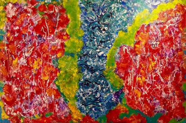 (CreativeWork) FESTIVA by Aileen Smith. Acrylic Paint. Shop online at Bluethumb.