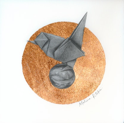 (CreativeWork) Paper Bird  by Melissa Ritchie. Drawings. Shop online at Bluethumb.