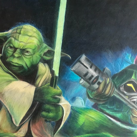 (CreativeWork) Yoda order 66 by Adrian Mcgillivray. Drawings. Shop online at Bluethumb.