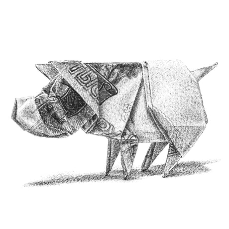 (CreativeWork) Russian Piggy - Orimoney Series by Mariya Rovenko. Drawings. Shop online at Bluethumb.