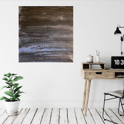 (CreativeWork) Blurred Lines by Louise Earl. Acrylic Paint. Shop online at Bluethumb.