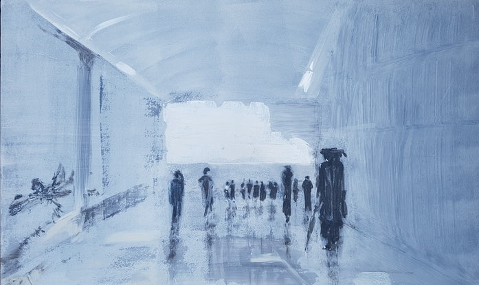 (CreativeWork) Going Somewhere ....? by Tina Dawes. Acrylic Paint. Shop online at Bluethumb.