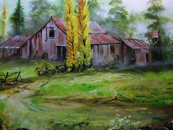 (CreativeWork) Spring Morning by Mark Rolls. Acrylic Paint. Shop online at Bluethumb.