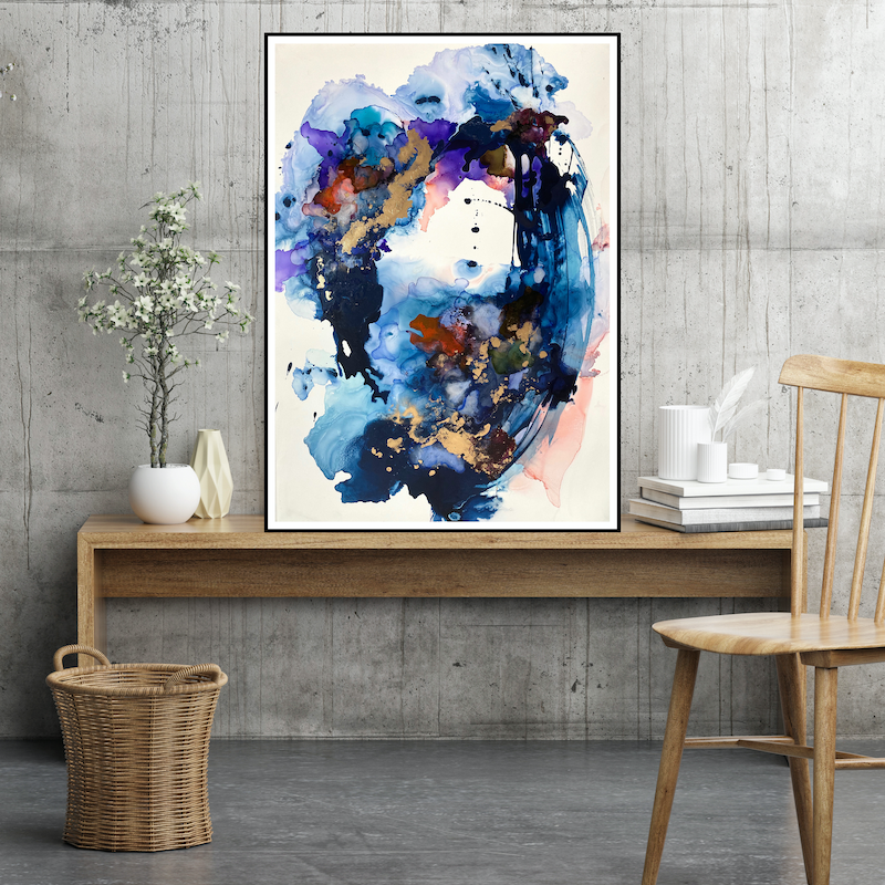 (CreativeWork) Whirlwind by Michelle Drougas. Mixed Media. Shop online at Bluethumb.