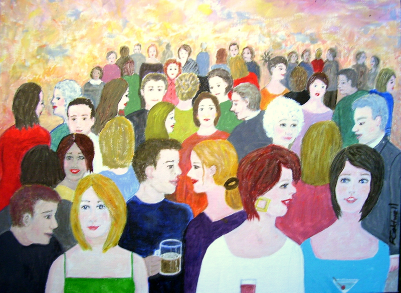 "(CreativeWork) ""The Gathering"" by Fran Caldwell. Acrylic Paint. Shop online at Bluethumb."