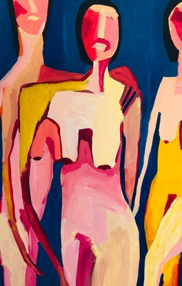 (CreativeWork) Skinny dipping (three sisters) by Sharon Monagle. #<Filter:0x00007fe3388574d8>. Shop online at Bluethumb.
