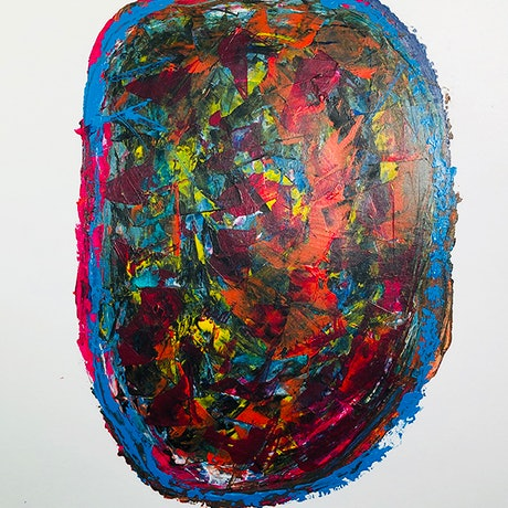 (CreativeWork) Rebirth, N2 by Sotieles Art. Acrylic Paint. Shop online at Bluethumb.