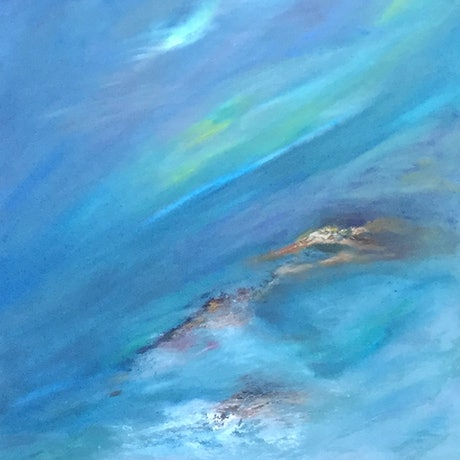 (CreativeWork) Adrift by Catherine Coster. Oil Paint. Shop online at Bluethumb.