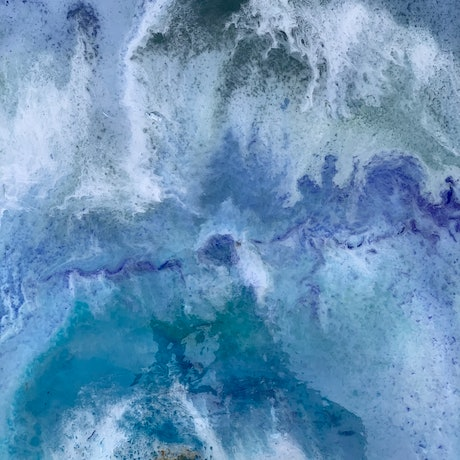 (CreativeWork) Storms in the ocean  by Anna Barnes. Resin. Shop online at Bluethumb.